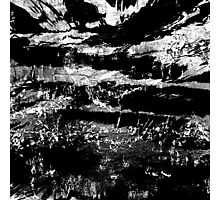 abstract black high contrast Photographic Print