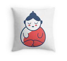 Buddha tattoo, yoga, spirituality. Throw Pillow