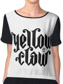 yellow claw logo Chiffon Top