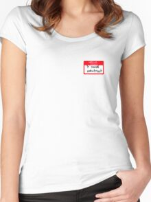 Social construct Women's Fitted Scoop T-Shirt