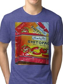 Shito.. not shit.... Very Hot pepper Sauce from Ghana, West Africa Tri-blend T-Shirt