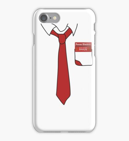 Shaun of the Dead Shirt and tie iPhone Case/Skin