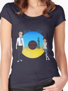 Portal Blue Sky Women's Fitted Scoop T-Shirt