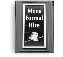 Mens Formal Hire. Rent A Man? Canvas Print