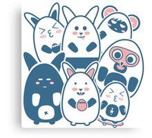Stickers Animals cartoon style.  Canvas Print