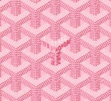 goyard pink logo Sticker