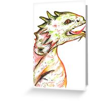 Little Green Dragon Greeting Card