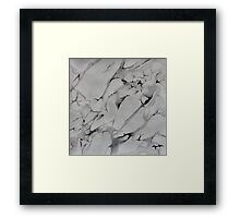 Gray Watercolor Marble Texture Framed Print