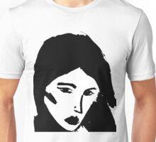 Girl in black Unisex T-Shirt