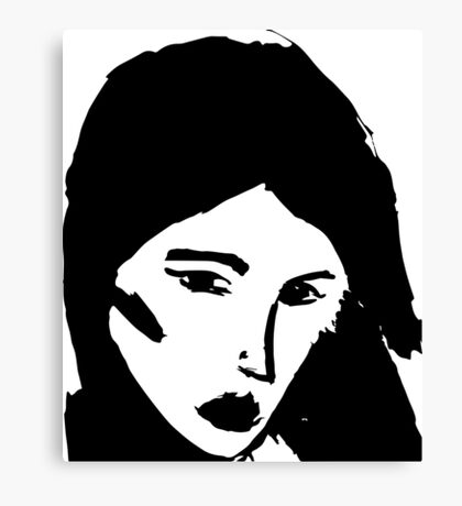 Girl in black Canvas Print