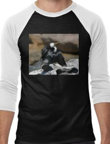Cormorant @ Sculptures By The Sea 2011 Men's Baseball ¾ T-Shirt