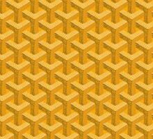 goyard yellow logo Sticker