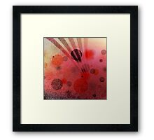 Sunset Stardust Bubbles Framed Print