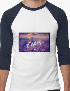 Paris city Men's Baseball ¾ T-Shirt