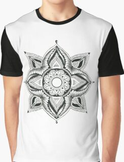Sacred Geometry Lotus Graphic T-Shirt