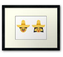 a mexican couple Framed Print