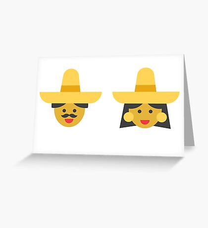 a mexican couple Greeting Card
