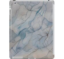 Blue Marble Watercolor Texture iPad Case/Skin
