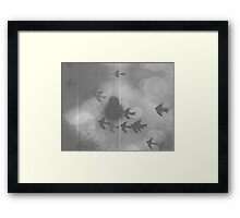 Dark Monochrome Dreams Framed Print