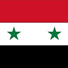 Syria Flag Stickers by Mark Podger