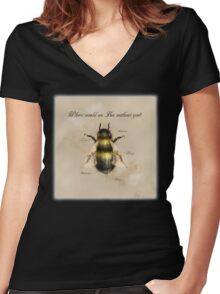 Where would we Bee without you? Women's Fitted V-Neck T-Shirt