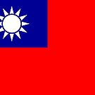 Taiwan Flag Stickers by Mark Podger