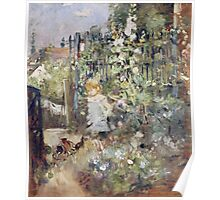 Vintage famous art - Berthe Morisot  - A Child In The Rosebeds Poster