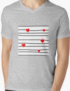 Hearts and stripes Mens V-Neck T-Shirt