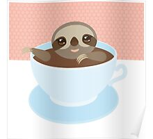 Sloth in a cup 1 Poster