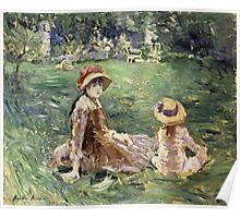 Vintage famous art - Berthe Morisot  - In The Garden At Maurecourt Poster
