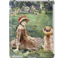 Vintage famous art - Berthe Morisot  - In The Garden At Maurecourt iPad Case/Skin