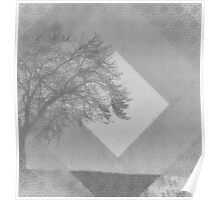 Monochrome Two Tone Trees Poster