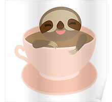 Sloth in a cup 3 Poster