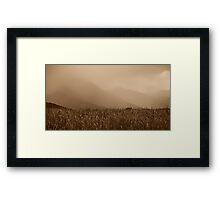 Heavy Rain at the Mountains Framed Print