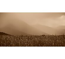 Heavy Rain at the Mountains Photographic Print