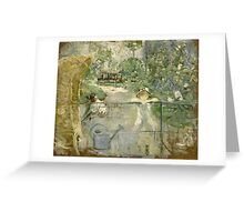 Vintage famous art - Berthe Morisot  - The Basket Chair Greeting Card