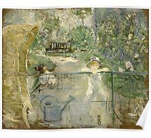 Vintage famous art - Berthe Morisot  - The Basket Chair Poster