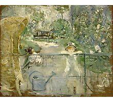 Vintage famous art - Berthe Morisot  - The Basket Chair Photographic Print