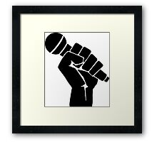 Grip the microphone Framed Print