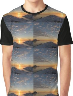 Greeting the Winter Sun on the Lake Graphic T-Shirt