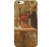 Vintage famous art - Carl Larsson - Getting Ready For A Game iPhone Case/Skin