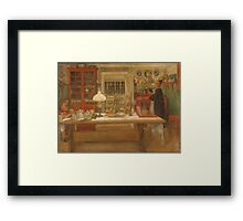 Vintage famous art - Carl Larsson - Getting Ready For A Game Framed Print