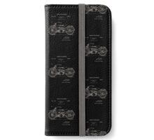 Harley Davidson Motor Cycle Patent 1924 iPhone Wallet/Case/Skin