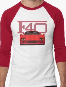 Ferrari F40 Men's Baseball ¾ T-Shirt