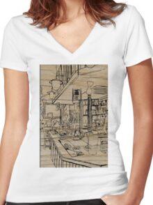 Castle Pub Women's Fitted V-Neck T-Shirt