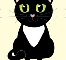 White Bibbed Black Cats Sticker