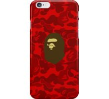 APE WITH RED CAMO iPhone Case/Skin