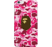 APE WITH PINK CAMO iPhone Case/Skin