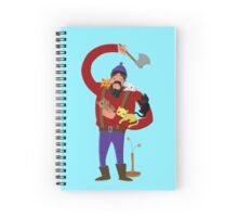 lumberjack with cute kitten companions Spiral Notebook