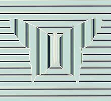 Art Deco Butterfly Wings Op Art  by CecelyBloom